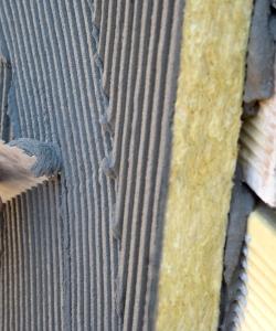 Оштукатуривание фасада утепленного минеральной ватой
